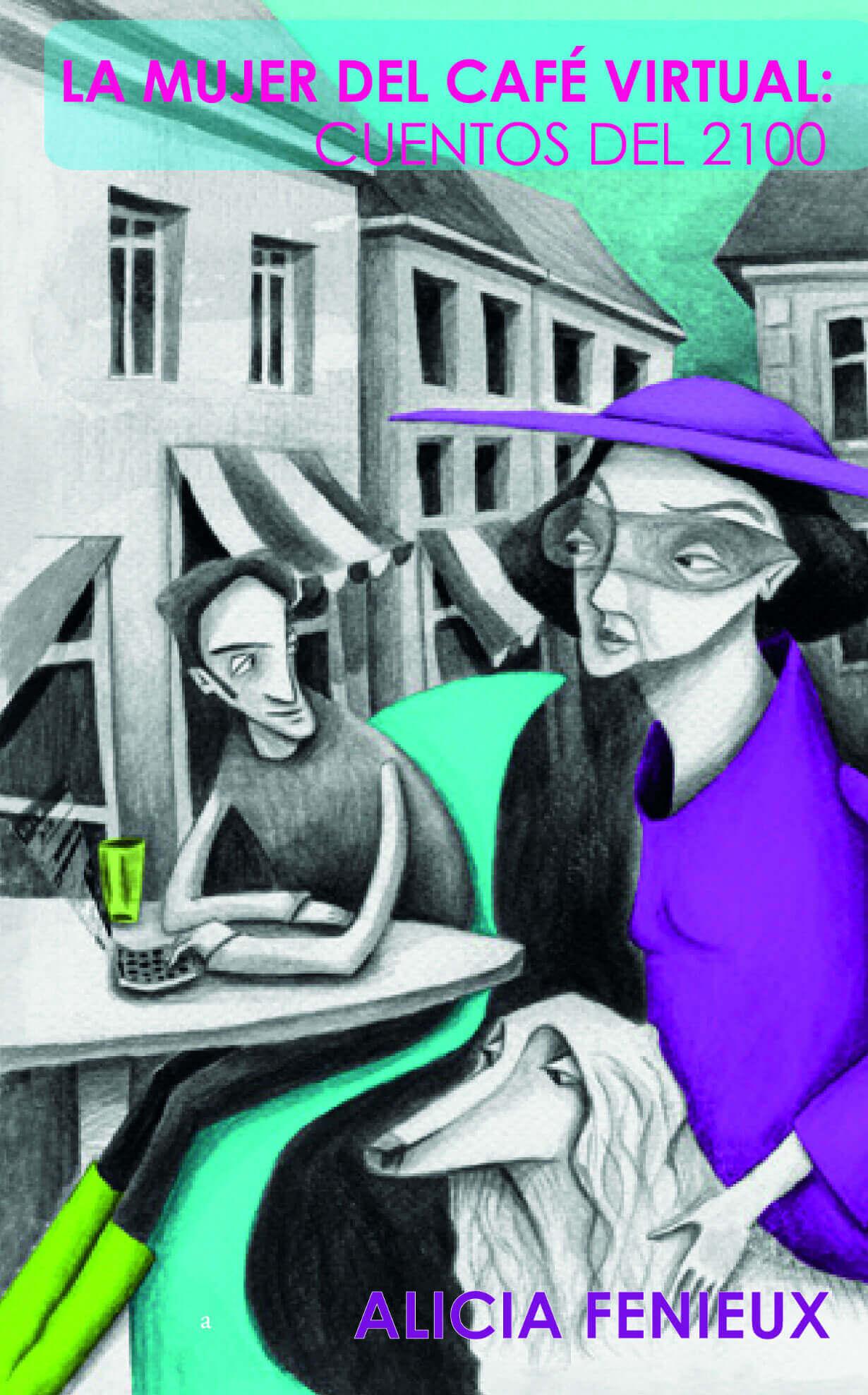 La mujer el café virtual